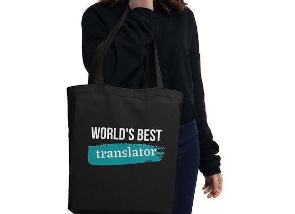 World's Best Translator Eco Tote Bag - Blue