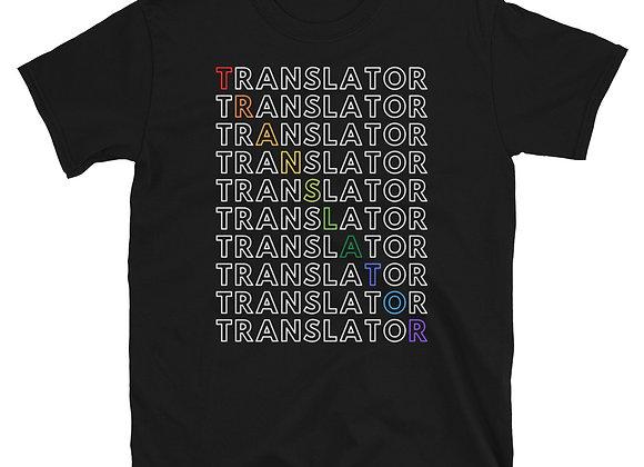 Translator Rainbow Short-Sleeve Unisex T-Shirt - Black