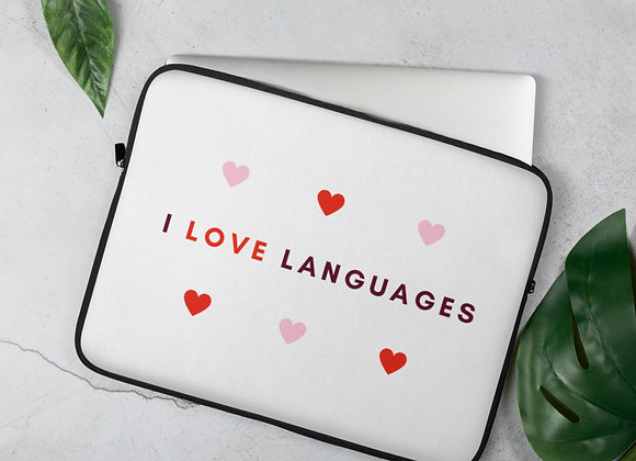I Love Languages Laptop Sleeve - 15in