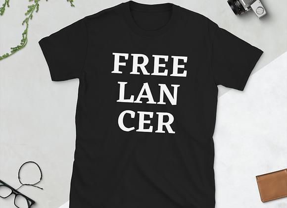 Freelancer Short-Sleeve Unisex T-Shirt - Black