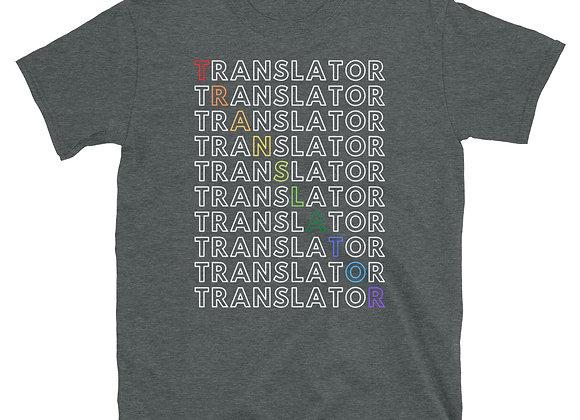 Translator Rainbow Short-Sleeve Unisex T-Shirt - Dark Heather