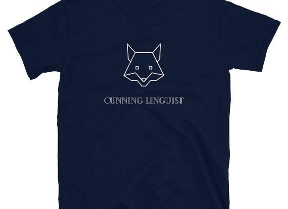 Cunning Linguist Short-Sleeve Unisex T-Shirt - Navy