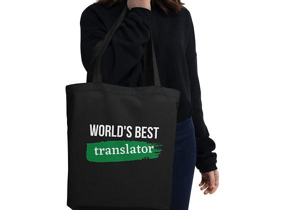World's Best Translator Eco Tote Bag - Green