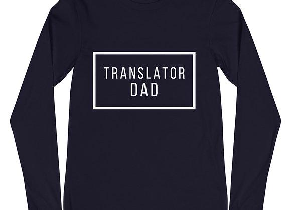 Translator Dad Long Sleeve T-Shirt - Navy
