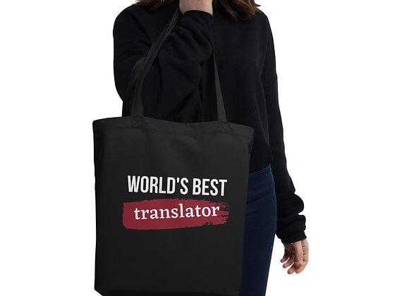 World's Best Translator Eco Tote Bag - Red