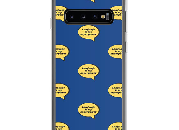 Language is My Superpower Samsung Case (various models) - Blue