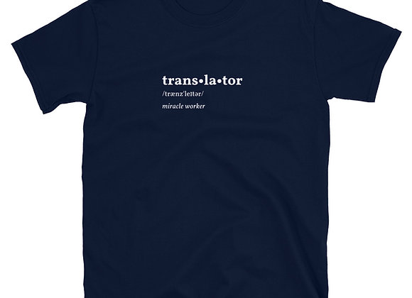 Translator Miracle Worker Unisex T-Shirt - Navy