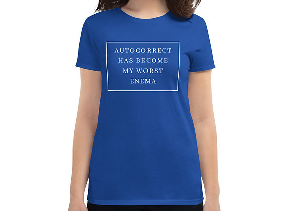 Women's Autocorrect sleeve t-shirt - blue