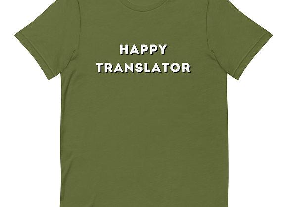 Happy Translator Short-Sleeve Unisex T-Shirt - Green