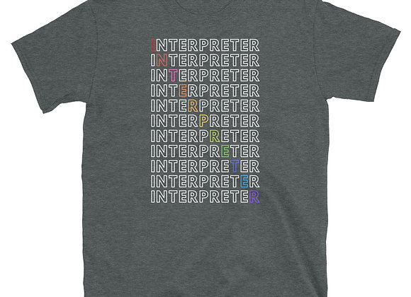 Interpreter Rainbow Short-Sleeve Unisex T-Shirt - Dark Heather