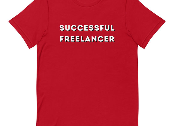 Successful Freelancer Short-Sleeve Unisex T-Shirt - Red
