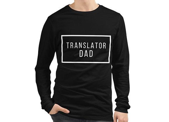 Translator Dad Long Sleeve T-Shirt - Black
