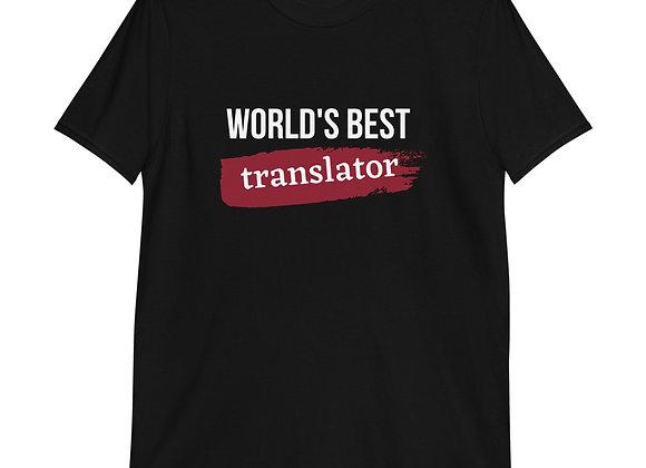 World's Best Translator Red Short-Sleeve Unisex T-Shirt- Red