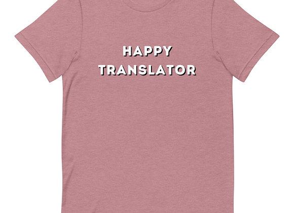 Happy Translator Short-Sleeve Unisex T-Shirt - pink