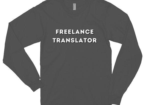 Freelance Translator Unisex Long sleeve t-shirt - Grey