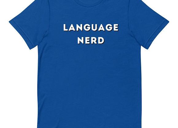 Language Nerd Short-Sleeve Unisex T-Shirt - Blue