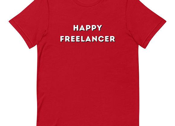 Happy Freelancer Short-Sleeve Unisex T-Shirt - red