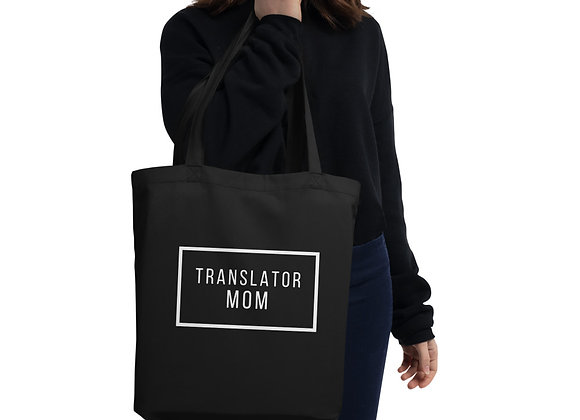 Translator Mom Eco Tote Bag - Black