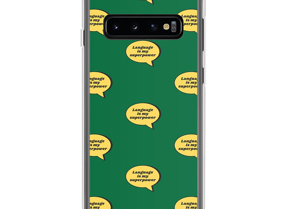 Language is My Superpower Samsung Case (various models) - Green