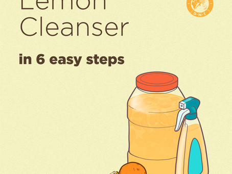 When life gives you lemons, you make lemon cleansers out of them!