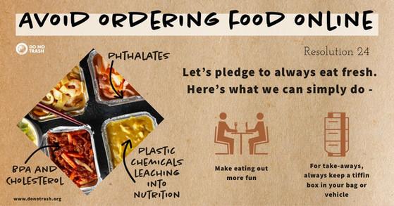 Avoid Ordering Food Online