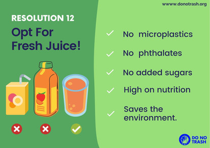 Opt for fresh juice!