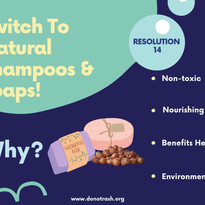 Switch To Natural Shampoos and Soaps