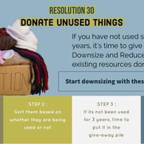 Donate Unused Items