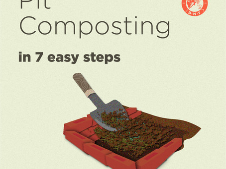 Make compost at home with pit composting!