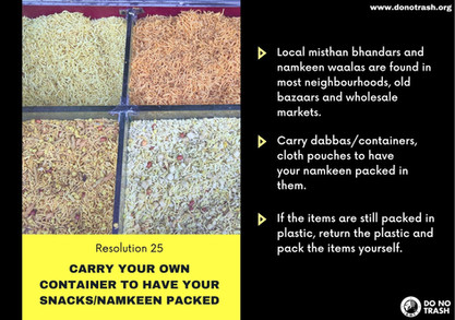 Carry Your Own Containers To Have Your Namkeen Packed