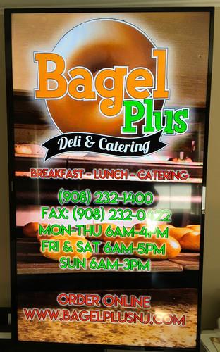 "Bagel Plus 43"" Signage Board"