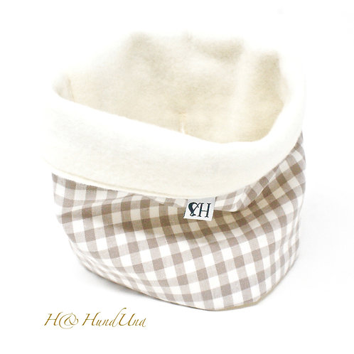 H& Loop Karo beige-weiß