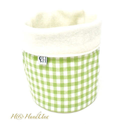 H& Loop Karo hellgrün-weiß