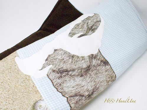 H& Decke Beachtime Bearded Collie
