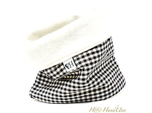 H& Loop Karo schwarz-weiß