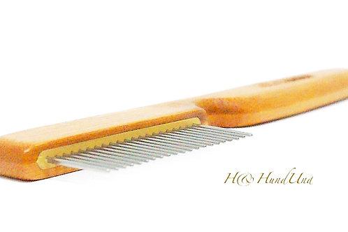 Bambus Kamm mit rotierenden Zähnen