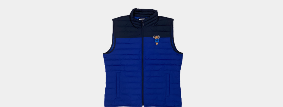 GG  Afro Puffs Vest (Navy + Blue) IN MEN SIZES, GO TO SIZING CHART IF NECESSARY