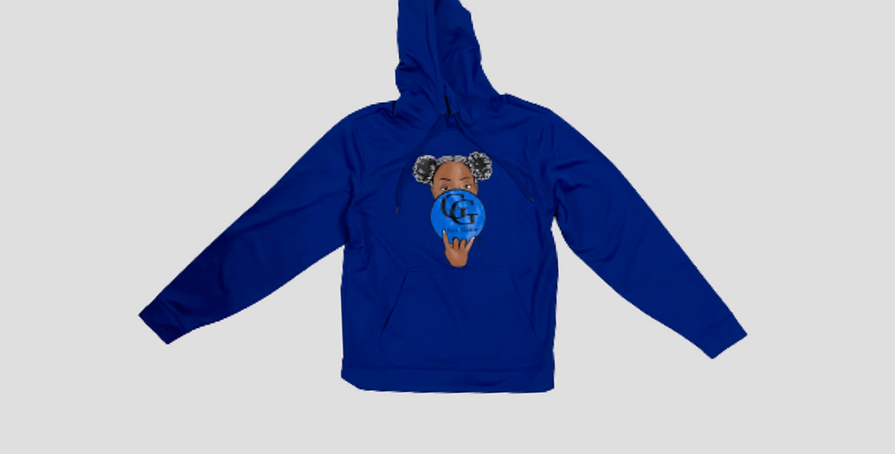 Royal Blue GG Afro Puffs Hoodie LIMITED QUANTITY