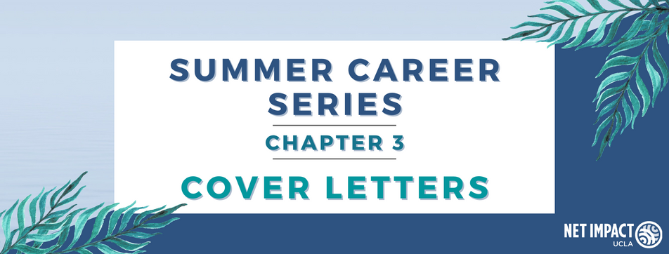 Summer Career Series: Cover Letters