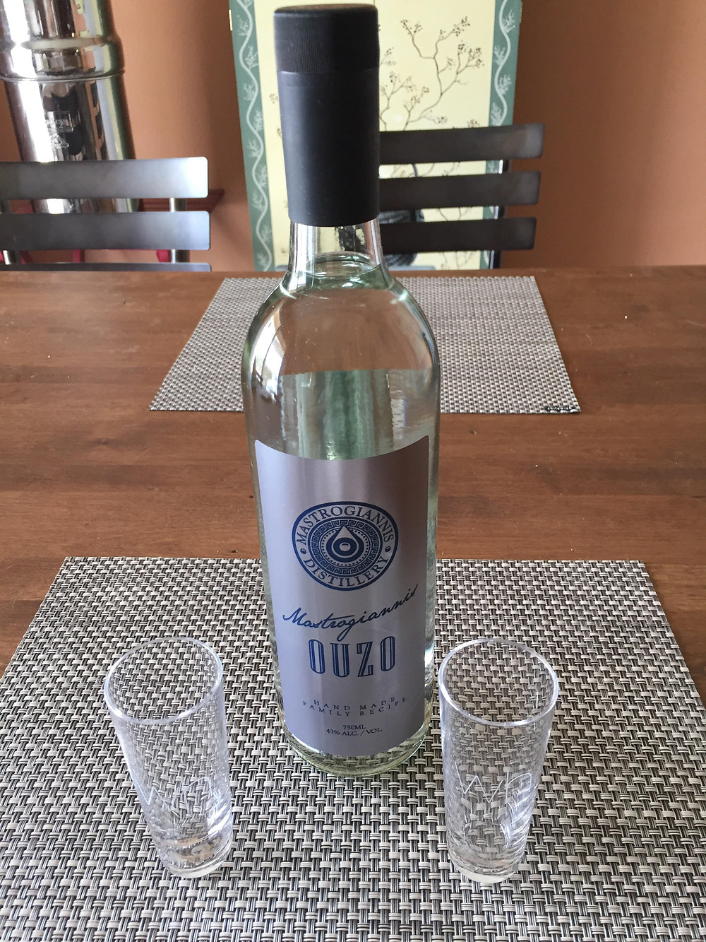 Ouzo from Mastrogiannis Distillery