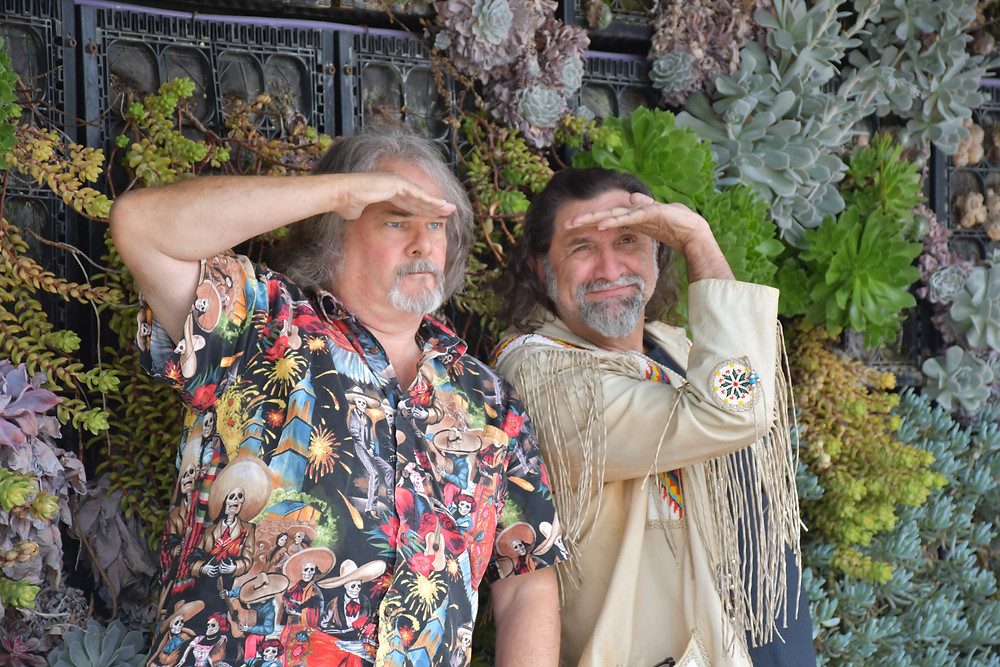 The Two Steves of Southwest Stories look to the future.  Photo by Susan Allen Ruiz.