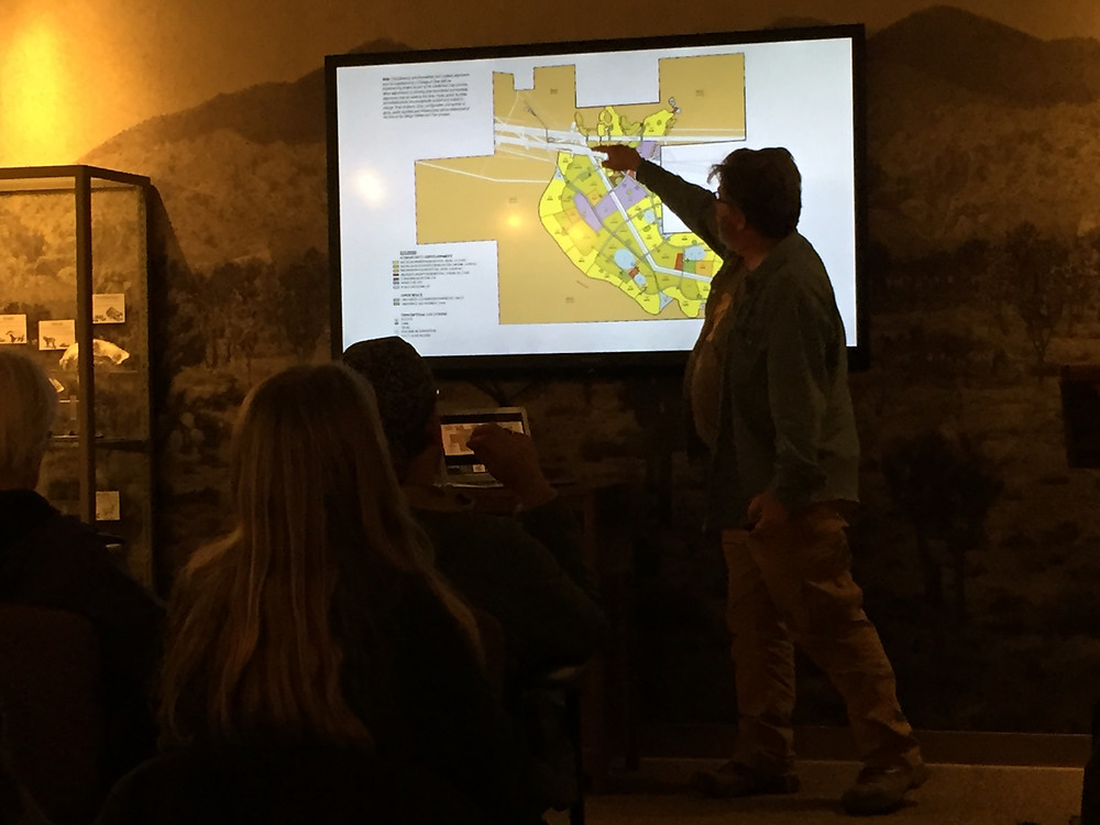 Chris Clarke of the National Parks Conservation Association talks about the planned new city for Joshua Tree National Park's southern border - Paradise Valley.