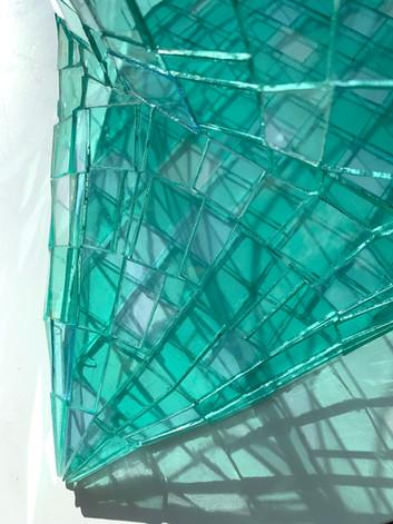 Glass Pillow Green Detail