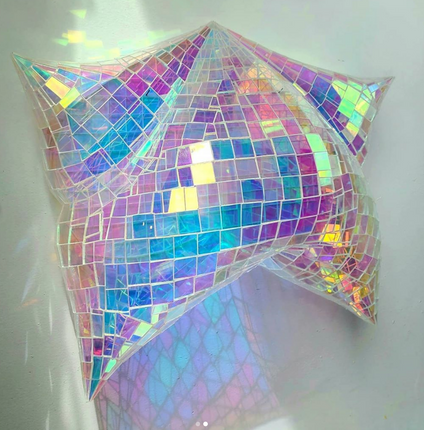 Holographic Sumo Pillow Wall Side