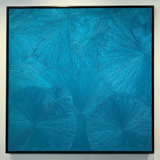 Untitled 30 Teal, The Chrysanthemum Series