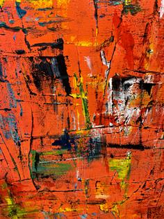 Untitled 21 (Multicolor Orange Ground) D