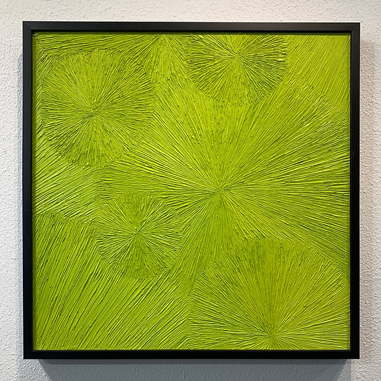 Untitled 35 Chartreuse, The Chrysanthemum Series