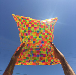 Multicolored Pillow in Sunlight