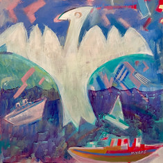 Untitled #225 (Ships & Bird)