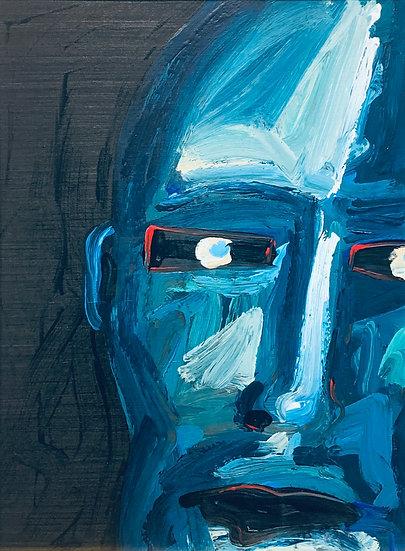 Intense Blue Face